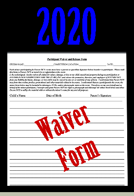 Encore Dance Competitions Printable Waiver Form 2020